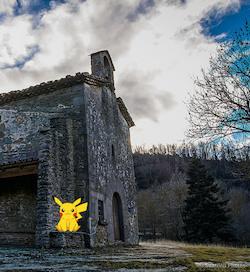 L'Ermita de Santa Magdalena, on un Pokemon Pikachu va demanar asil als tions de Nadal.